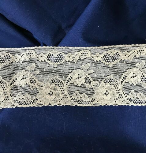 "7-1/2 Yards Vintage Lace 2-3/4"" wide Ecru Beautiful Intricate Design Pattern"