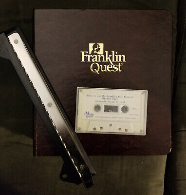 Franklin Quest 3-ring Organizer Binder With 3-hole Punch Accessories - Unused