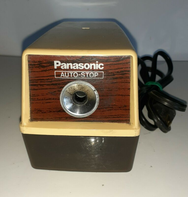 Vintage Panasonic Electric Pencil Sharpener Industrl Business Desk Accessories