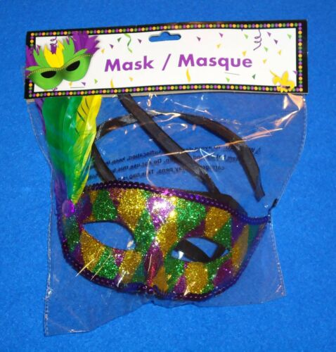 BRAND NEW DYNAMIC NEW ORLEANS MARDI GRAS COSTUME MASQUERADE MASK FACTORY SEALED