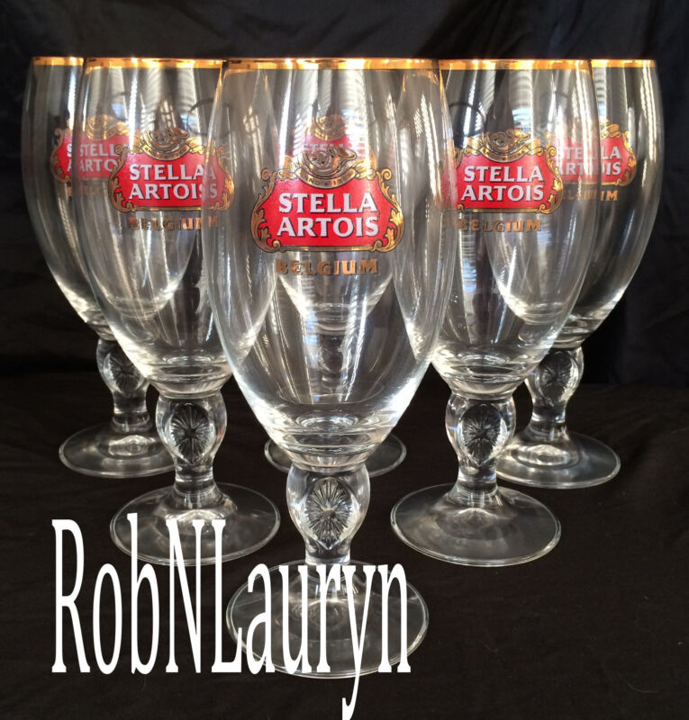 Stella Artois Chalice 40CL Set Of 6 Six Glasses Beer Pub Bar Pint BEST QUALITY