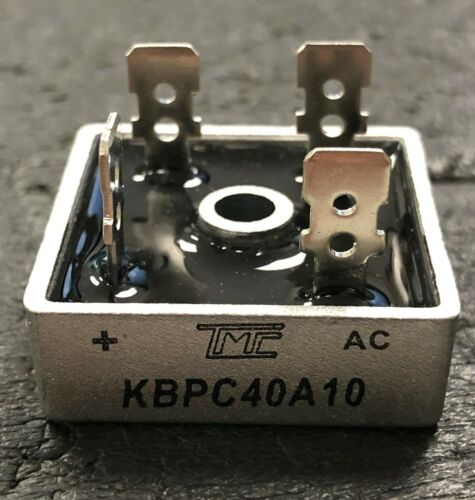 40 Amp 200- 1000 Volt Bridge Rectifier - KBPC40A10 - Aluminum Casing TRUE 40A