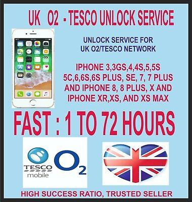 O2 TESCO GIFFGAFF UK UNLOCK SERVICE IPHONE 3GS 4 4S 5 5S SE 6 6+ 6S+ 7 7+ 8 8+ X