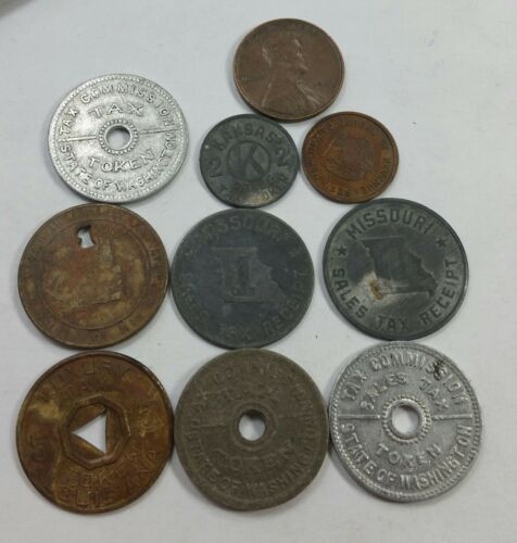 Lot of 9 Tax Tokens