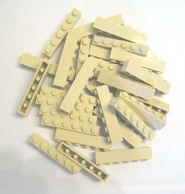 LEGO LOT OF 25 NEW 1 X 6 DOT TAN BRICKS *FREE SHIPPING*