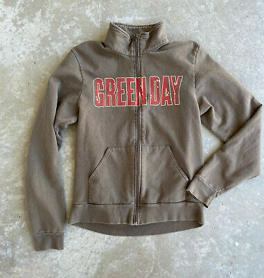 Green Day I WALK ALONE Vintage Concert Zip Sweatshirt - M Medium