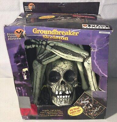 ☆ Halloween ☆ Skeleton Rare Outdoor Ground Breaker Scary Blow Mold