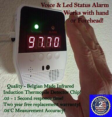 Portable Infrared Temperature Detector Sensor Thermometer W Voice Led Alarm