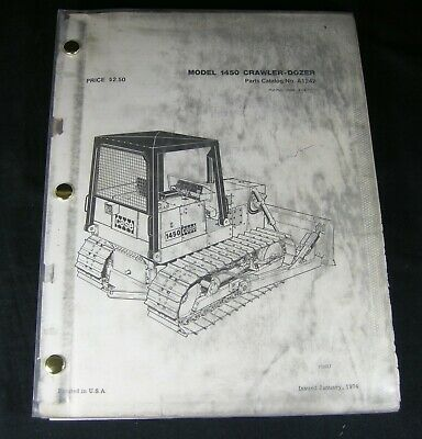 Case 1450 Crawler Tractor Dozer Bulldozer Parts Manual Book Catalog A1242 Oem