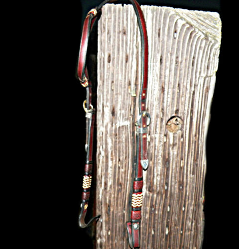 Fancy Gail Hought Vintage Braided Vaquero Headstall With Vogt Sterling Silver