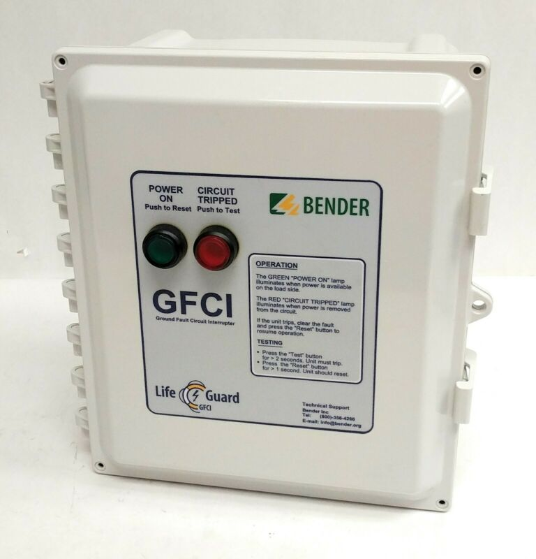 Bender Lifeguard GFCI LG60-208-3/4-6-4X-P-CH 60A 208V Three-Phase Four-Wire