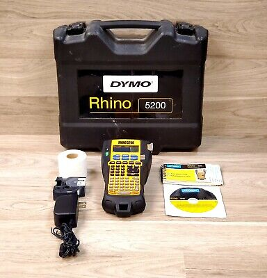 Dymo Rhinopro 5200 Industrial Label Maker With Carrying Case And Accessories