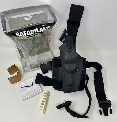 Safariland 6004 Sls Black Stx Tactical Left Hand Leg Holster Lh - Beretta 92 96