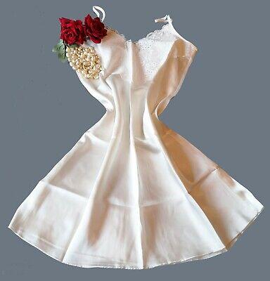 N52 Knee Length Nighty Luxury Weight Glossy Satin Night Dress Blue Size 18//20