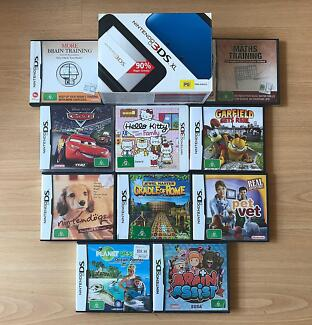 Nintendo 3DS XL Console, 10 Great Games, Charger, Box