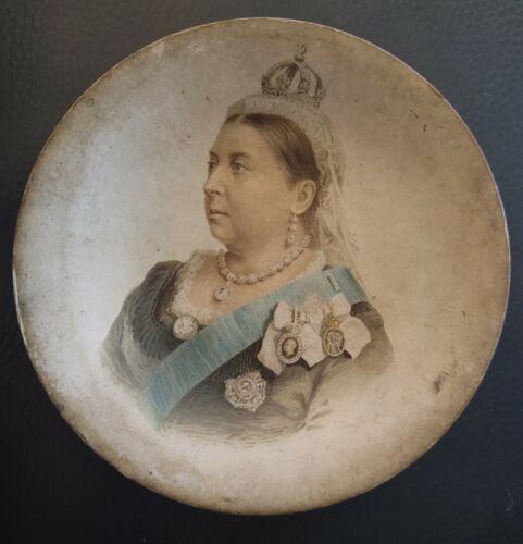 """Queen Victoria round plate 5.25"""""""