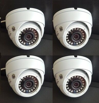 - Set (4) HD-TVI 2.4MP 1080p HD CMOS Outdoor IR Dome Security Cameras 3.6MM