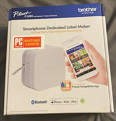Brother P-touch Cube Smartphone Dedicated Label Maker New Pt-p300bt 012502643975