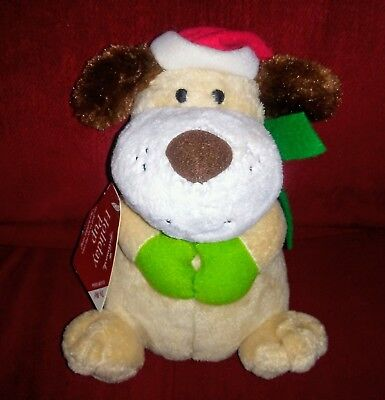 Hallmark HOLIDAY PUP Animated Christmas Puppy 8in Plush Jingle Bells Song  ()