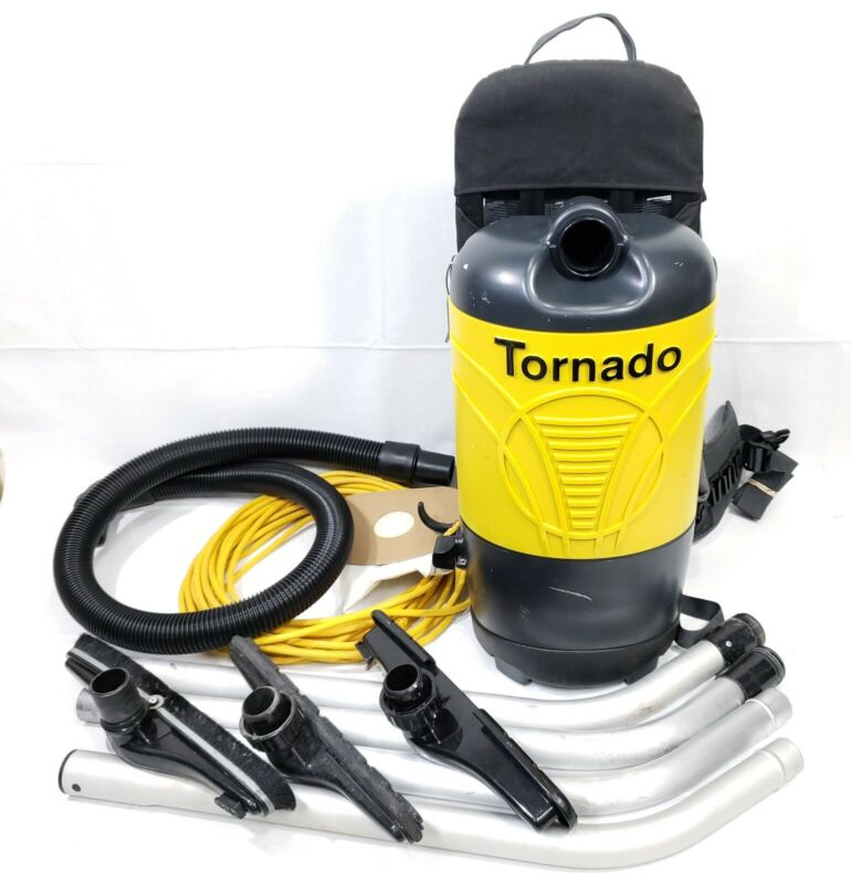 Tornado 93012B Pac-Vac 6 Quart Aircomfort Backpack Vacuum Bundle 23361-1
