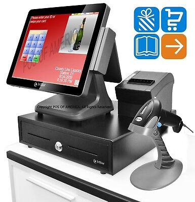 3nstar Pcamerica Cre Pos Bundle J1900 4gb 120 Ssd Touchcomputer Retail 1d Stand