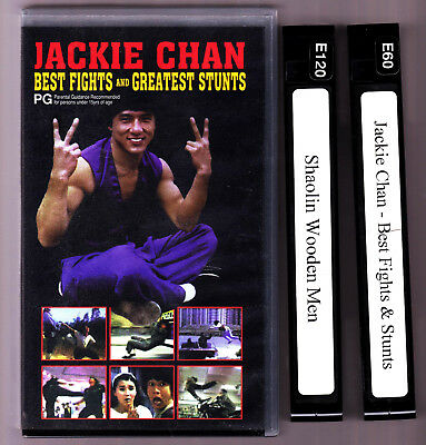 JACKIE CHAN BEST FIGHTS & GREATEST STUNTS VHS - 2 TAPES