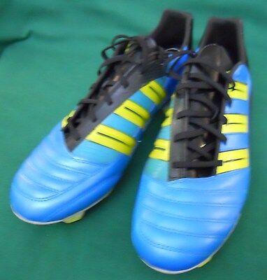 ADIDAS ABSOLION TRX FG MEN'S SOCCER SHOES SIZE US 11 1/2 AQUA AND YELLOW NEW Absolion Trx Fg Soccer Shoes