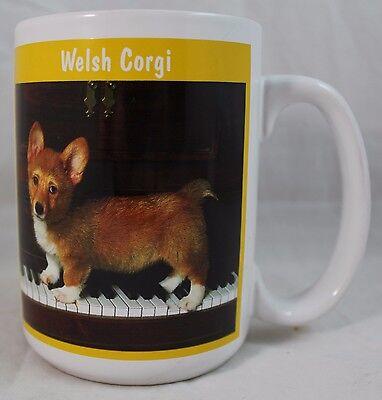 Welsh Corgi Puppy Picture On a Piano Coffee Cocoa Tea Cup Mug