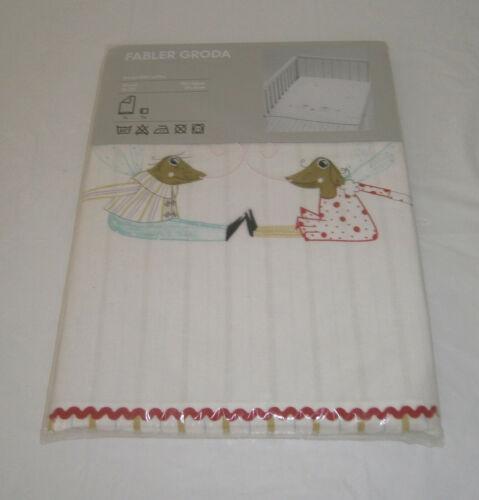 "NIP IKEA Fabler Groda Frog Crib Duvet Quilt Cover 43"" x 49"" with Pillowcase"