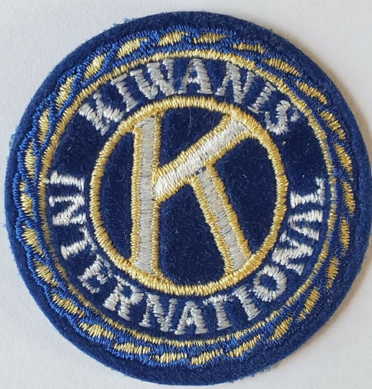 ONE EMBROIDERED KIWANIS INTERNATIONAL (IRON OR SEW ON) PATCH