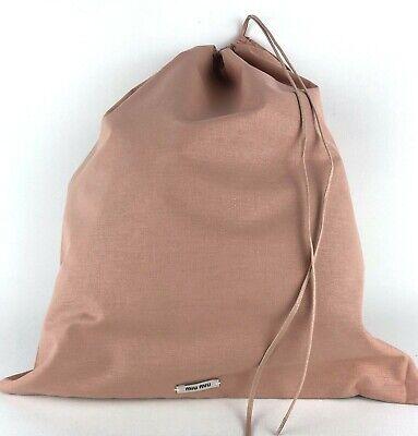 "Miu Miu by Prada New Cotton Storage Dust Bag Drawstring 13.25""x 15.25"" Medium"