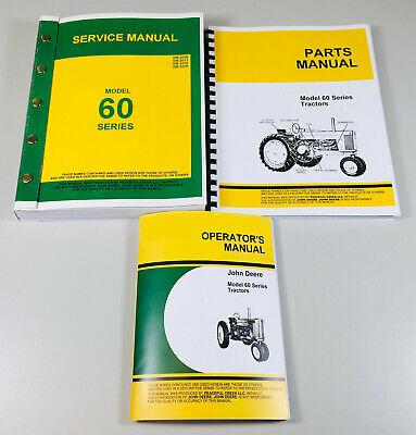 Service Manual Set For John Deere 60 Tractors Operators Parts Catalog Repair