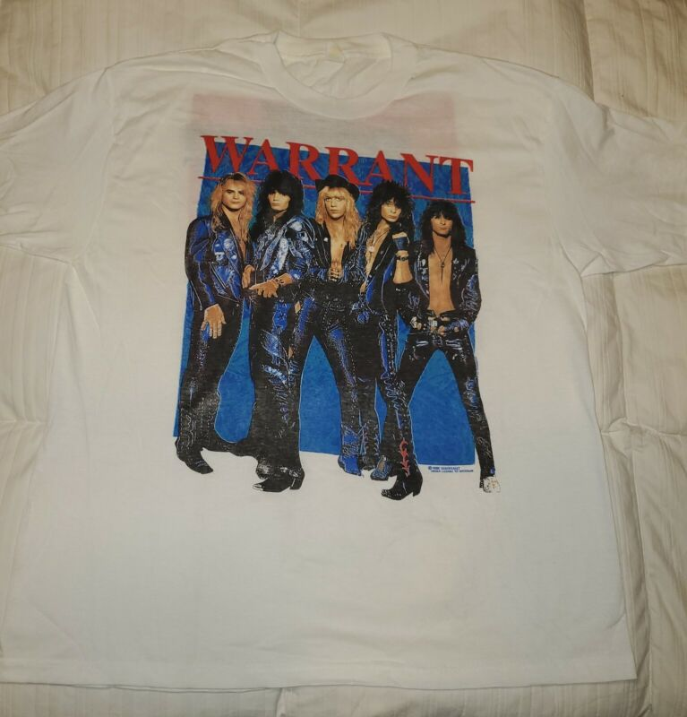 "1989 WARRANT VINTAGE CONCERT TSHIRT ""DOWN BOYS Big Talk D.R.F.S.R."" NEW SIZE XL"