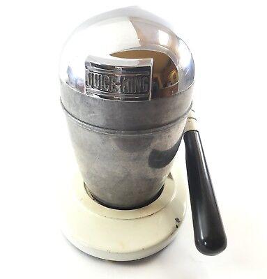 Vintage Art Deco Juice-King Chrome Industrial Heavy Duty JK-35 Manual Juicer