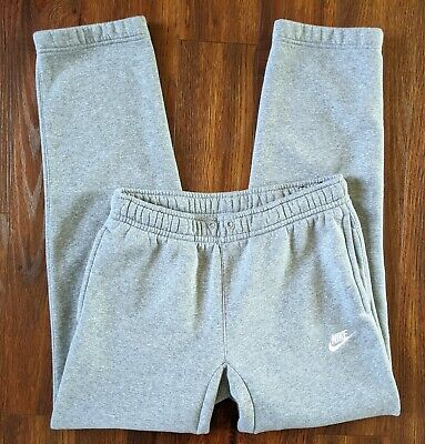 VTG Nike Sportswear Track Sweat Pants Men's Size Small Gray Athletic Blue Tag
