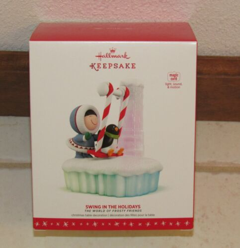 Hallmark 2016 Frosty Friends Tabletop Ornament: Swing In The Holidays Magic