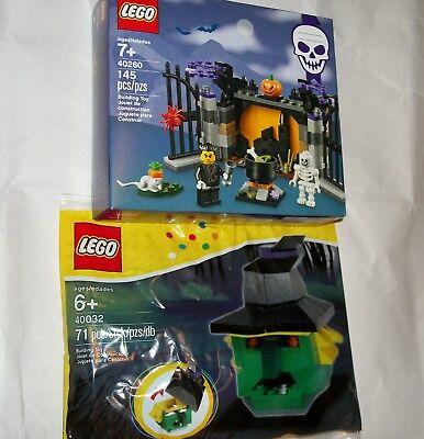Lot LEGO Set 40260 Halloween Haunt w/2 Minifigures, 40032 Witch Head Trinket Box - Lego Halloween 2017 Minifigures