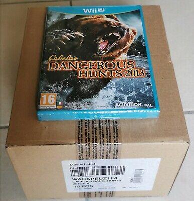 Box scellée usine de 15x jeux Cabela's Wii U Neuf new Blister...