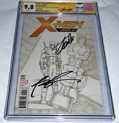 X-Men: Gold #1 CGC SS Signature Autograph STAN LEE ROB LIEFELD Lim Sketch Cover