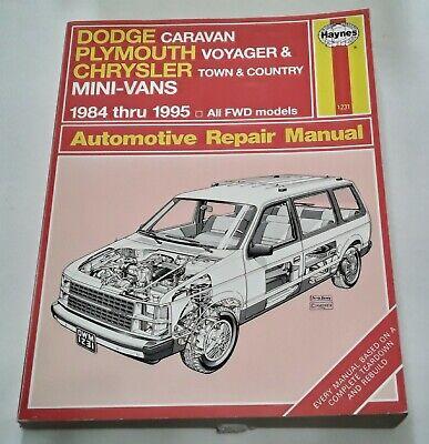1984-1995 Dodge Caravan, Plymouth Voyager Chrysler Town & Country Mini-Vans Manu Country Plymouth Voyager Vans