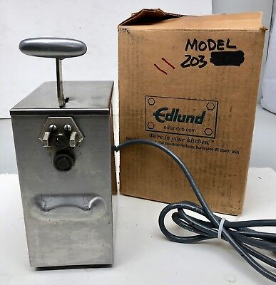 Edlund 203 Hilow Tabletop Commercial Kitchen Electric Can Opener 1ph 2 Speed