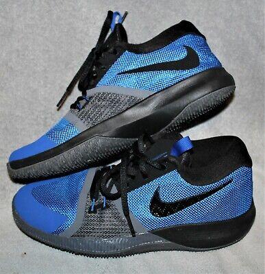 Nike Boys Blue Gray Black Shoes Size 5Y