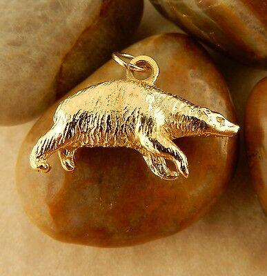22k gold plated 3D Polar Bear charm