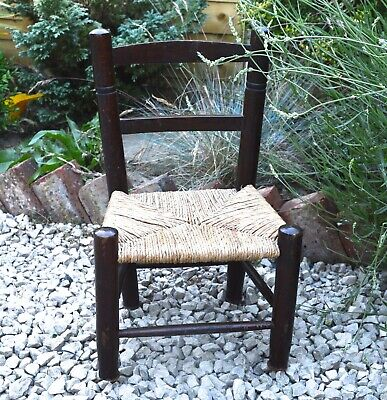 Woven Chair Childs Chair Mid Century Baby Chair Vintage Chair Vintage Home Decor segunda mano  Embacar hacia Spain