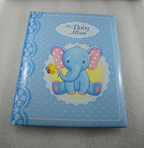 BABY FIRST PHOTO ALBUM FOTO NEW BORN BOY PICTURES BIRTHDAY ELEFANT