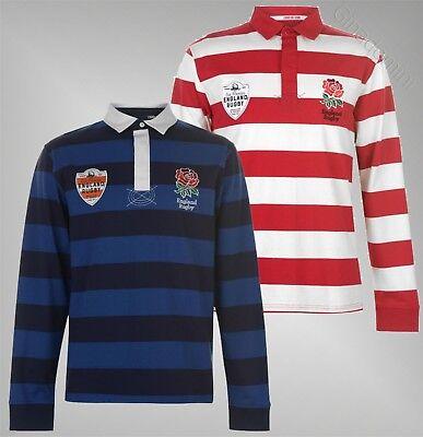 Mens Branded RFU Sport Rugby Lightweight Top Printed Stripe Jersey Polo S-XXL