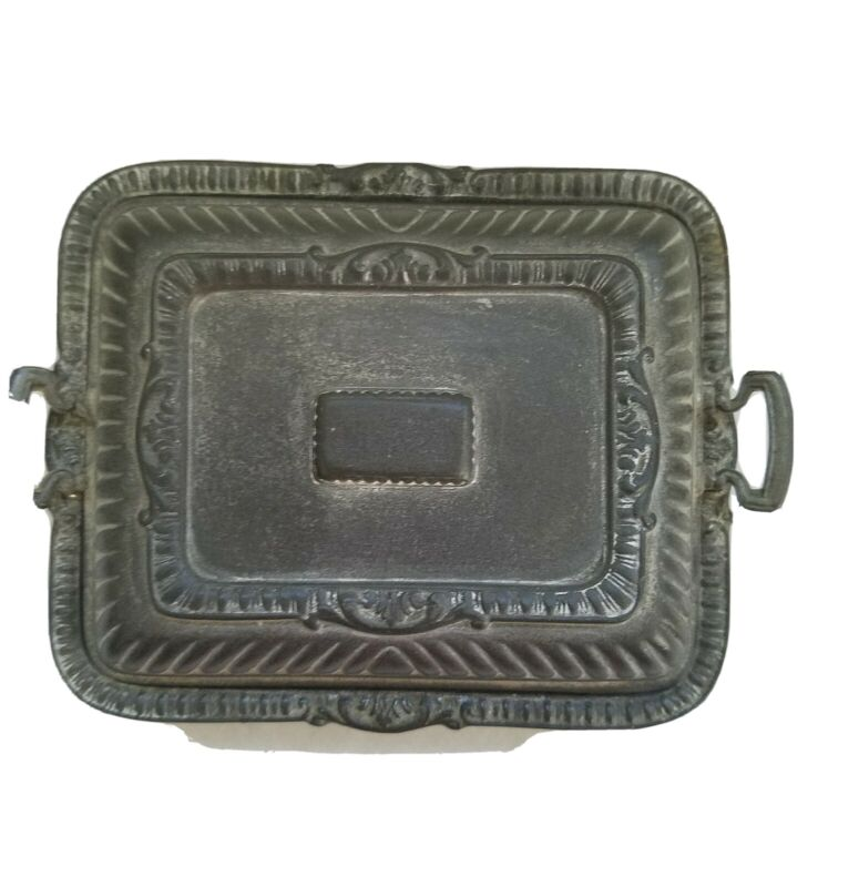 Vintage Pewter Covered Butter Dish