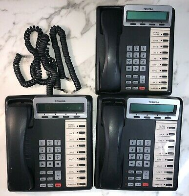 Lot Of 3 Toshiba Dkt3210-sd V.2 Digital Business Display Phones Lot No G9