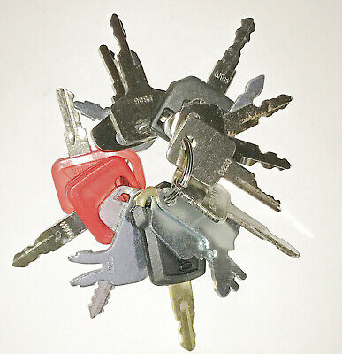 16 Keys Heavy Equipment / Construction Ignition Key Set For