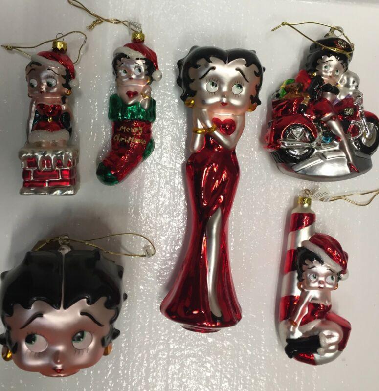Betty Boop Xmas Ornaments & topper